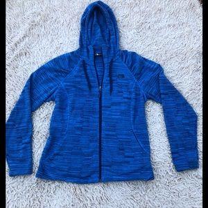 Ladies North Face fleece zip up hoodie SZ Large